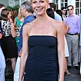 Gwyneth Paltrow in a strapless dress.