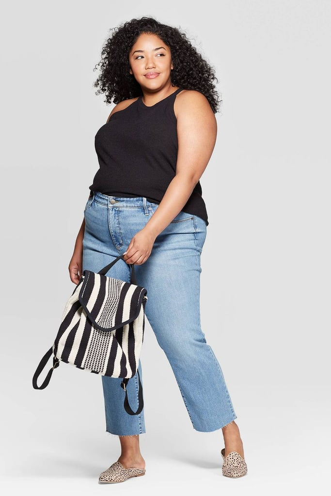 Universal Thread Plus Size Cropped Mid-Rise Straight Jeans