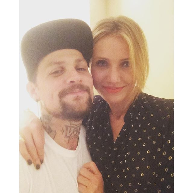 """It's been over a year since Benji Madden and Cameron Diaz tied the knot in a private ceremony in January 2015, and while the duo tends to keep their relationship private, every now and then, the couple gives us a glimpse at their loving union. Benji and Cameron always look so in love, whether they're out on a hot date or simply watching a basketball game. Most recently, the Good Charlotte rocker penned a heart-melting message to his wife on Instagram, gushing, """"I couldn't be more proud of my Bad Ass wife. She wakes up everyday on a mission to try and make the world a better place. I'm always amazed by the courage, strength and vulnerability she shows."""" Keep reading to see the pair's sweetest moments together, and then check out the very permanent way Benji honoured Cameron."""