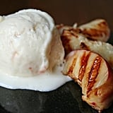 Grilled Nectarines With Ice Cream