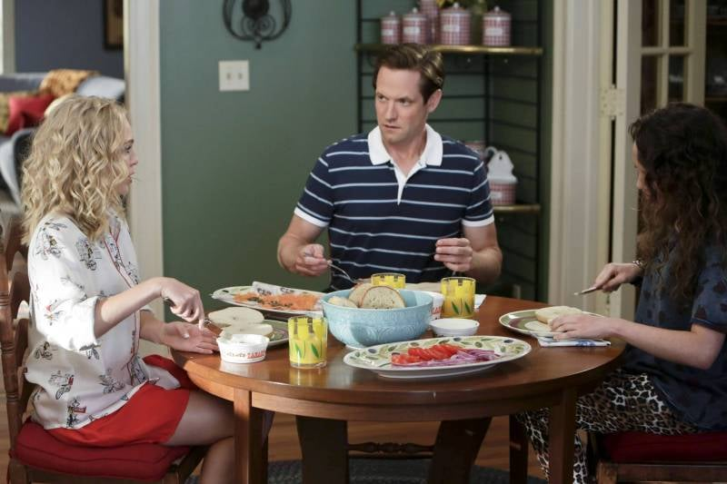 Cozy up in Carrie's exact Piamita City Tour pajama shirt ($276) for your next family breakfast.