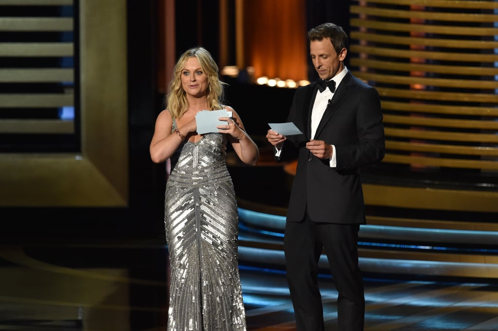 Amy Poehler and Seth Meyers's Intro of Matthew and Woody