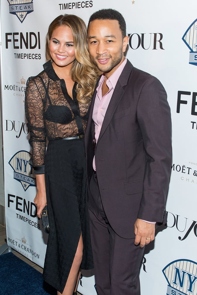 Chrissy Teigen and John Legend stepped out for an event celebrating Chrissy as the DuJour cover star.