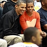At a Towson Basketball Game With Barack
