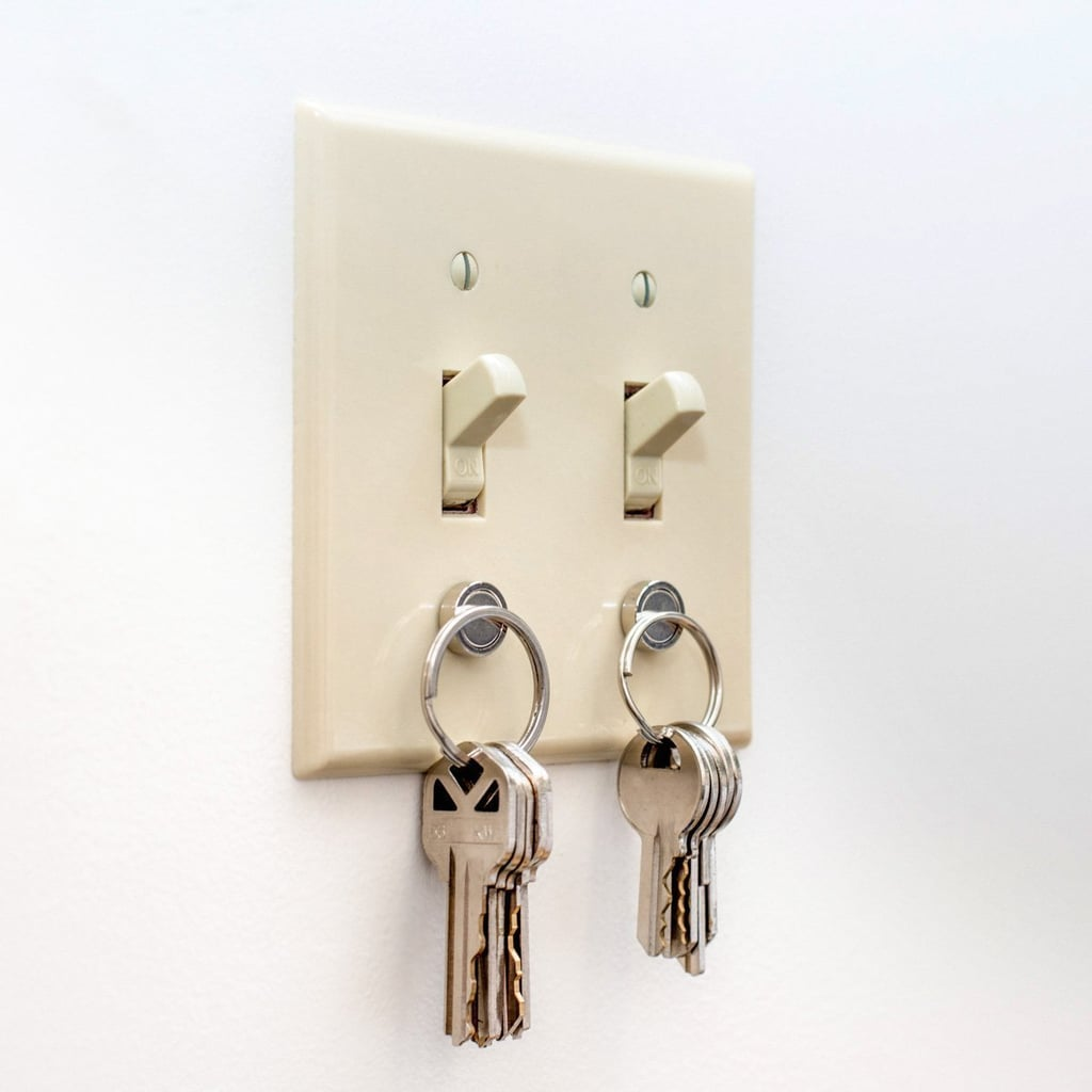 A Key Holder That Sticks to Your Light Switch