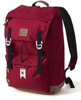 Solid Campus Flap-Over Backpack