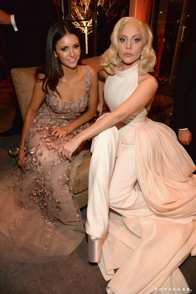 Pictured: Lady GaGa and Nina Dobrev