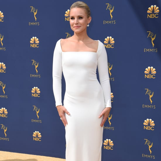 Kristen Bell White Gown at the 2018 Emmys