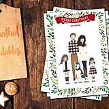Custom Illustrated Family Christmas Card from Etsy ($55 and up)