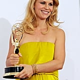 Claire Danes showed off her Emmy.