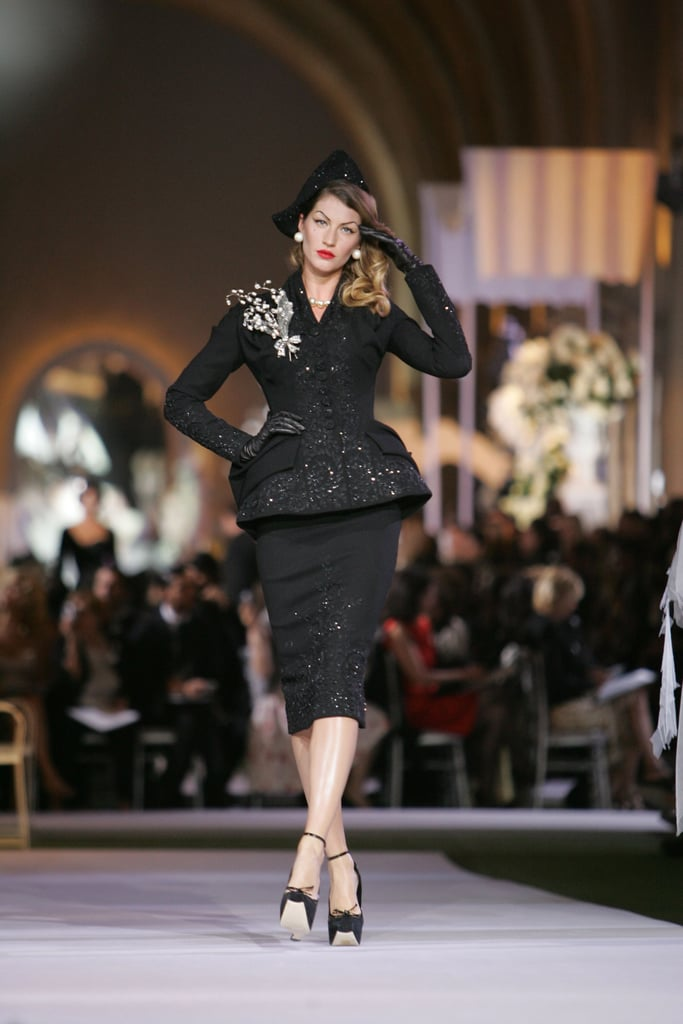 Gisele Bündchen on the Dior Haute Couture Runway at Paris Couture Fashion Week Fall/Winter 2008