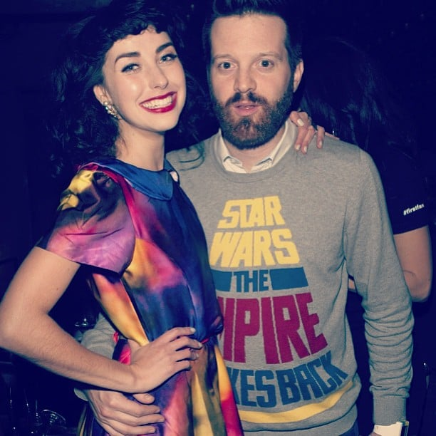 Kimbra bumped into a friend at one of the Grammys after parties. Source: Instagram user kimbraofficial