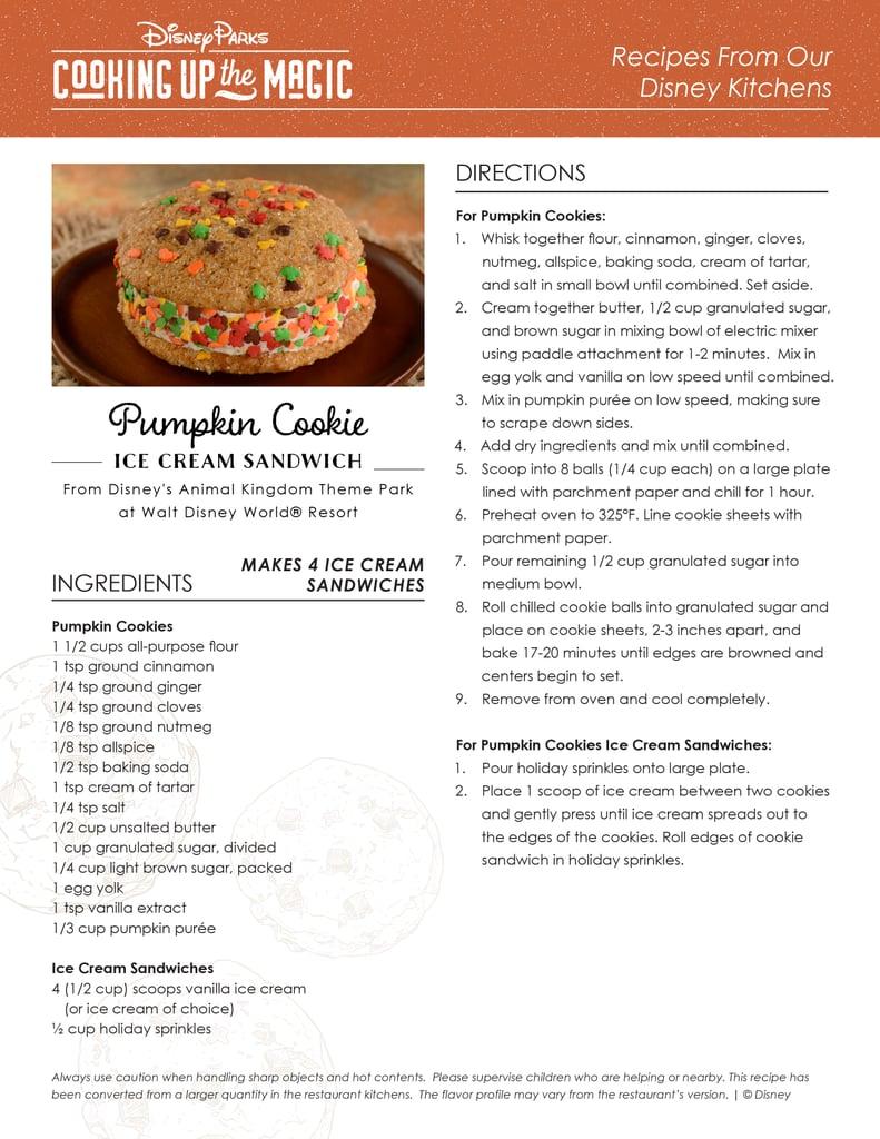 Pumpkin Cookie Ice-Cream Sandwich Recipe