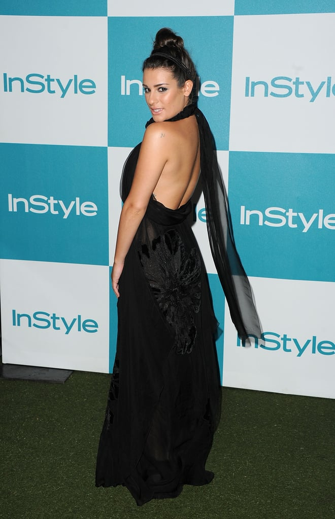 Lea Michele at the 10th annual InStyle Summer soiree.