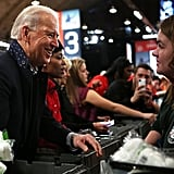Vice President Joe Biden helped pack care packages for deployed military members as part of the National Day of Service.