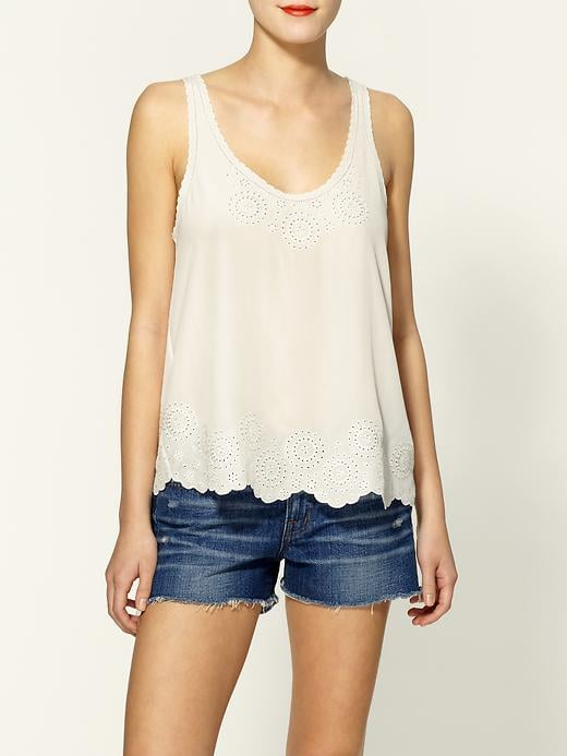 Inject a flirty vibe into your low-key dress code with this cream-hued eyelet top. It's sweet and totally eye-catching. Joie Boyd Eyelet Silk Top ($107, originally $178)
