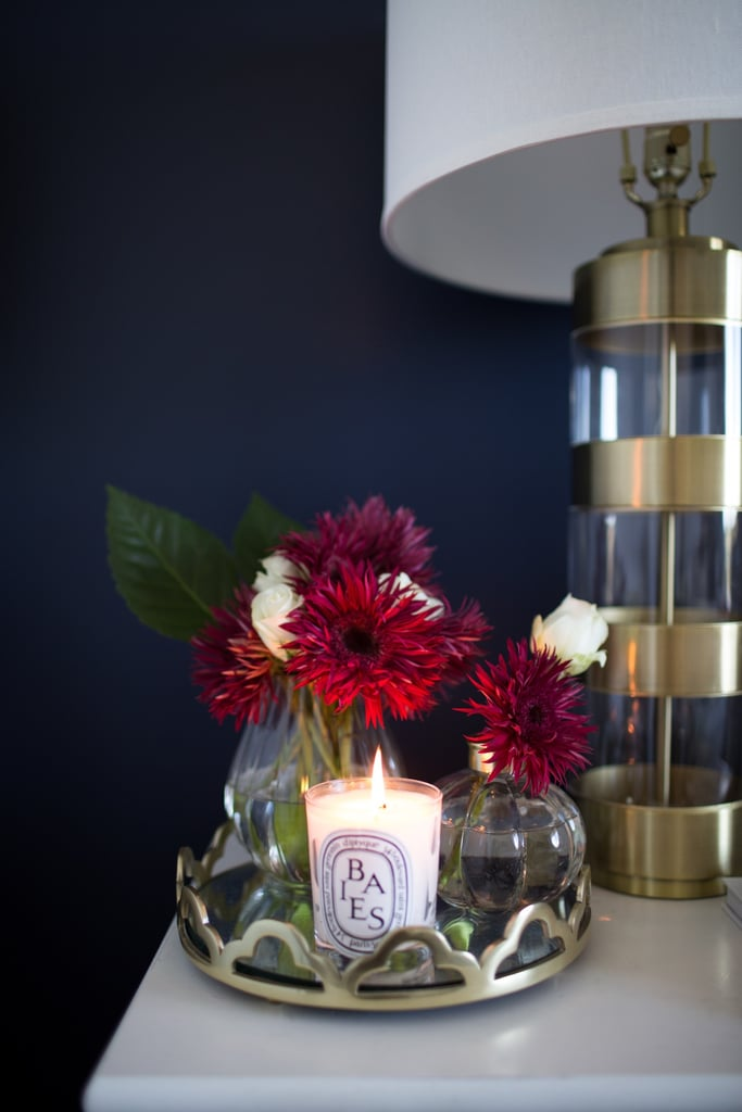 The fashion girl's home doesn't just look great, it smells great – and her scented candle of choice is more often than not an understated, yet elegant Diptyque from Paris.