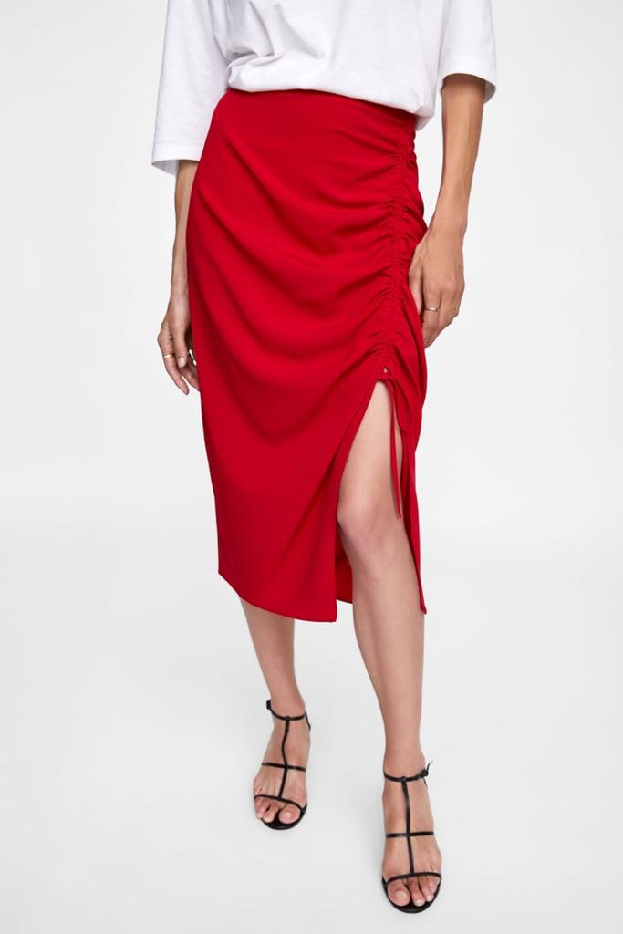 Zara Skirt With Front Ruching