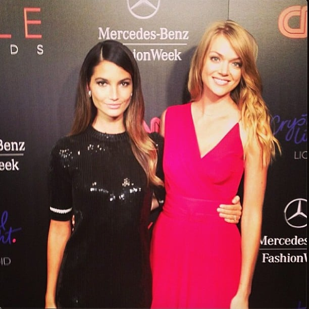 Victoria's Secret models Lily Aldridge and Lindsay Ellingson attended the Style Awards together. Source: Instagram user lilyaldridge