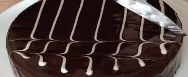 Steal Ina Garten's Ingenious Cake-Decorating Hack For a Gorgeous Chevron Design
