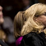 Representative Carolyn Maloney of New York cries during Ford's testimony.