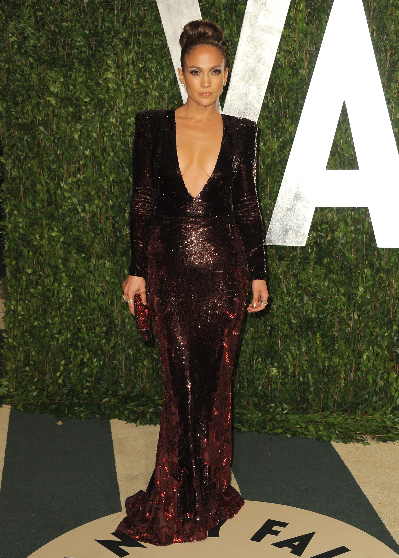 Jennifer Lopez in Zuhair Murad at Vanity Fair.
