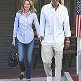 Ellen Pompeo and Chris Ivery left their poll after voting together in LA.