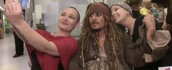 Johnny Depp as Captain Sparrow at Children's Hospital Video