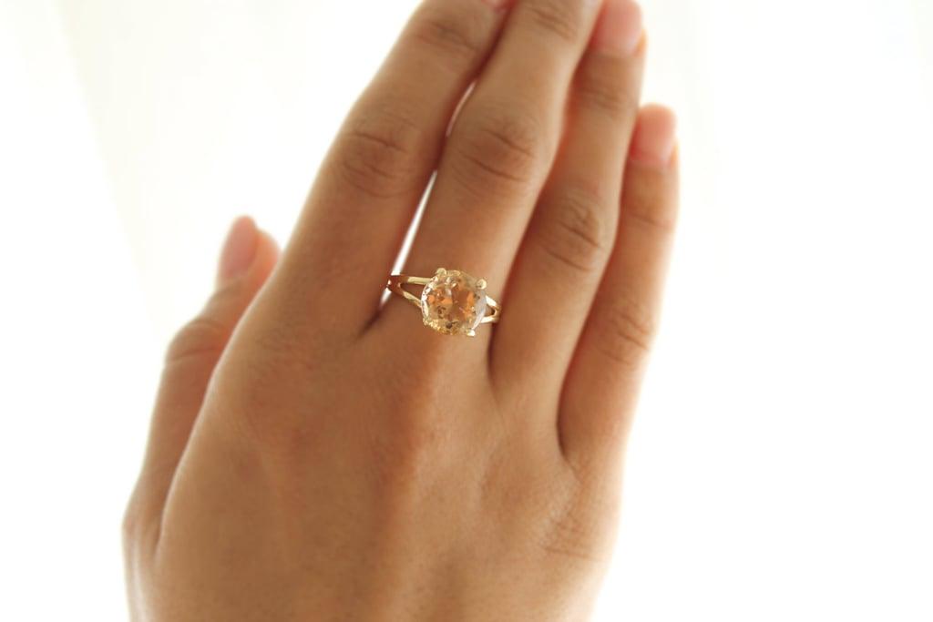 Brown Topaz & Rose Gold Ring: $64