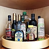 Use a Lazy Susan in the Fridge or Cabinet