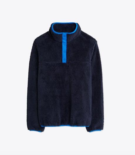 Sherpa Fleece Snap Pullover