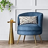 Project 62 Beadle Velvet Accent Chair with Brass Leg