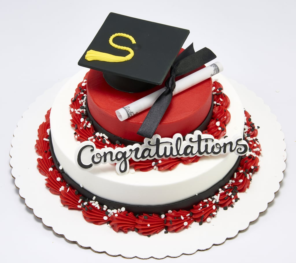 Mini 2-Tier Graduation Cake