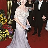 She's Loved Embroidered Gray Gowns Since the 1999 Oscars!