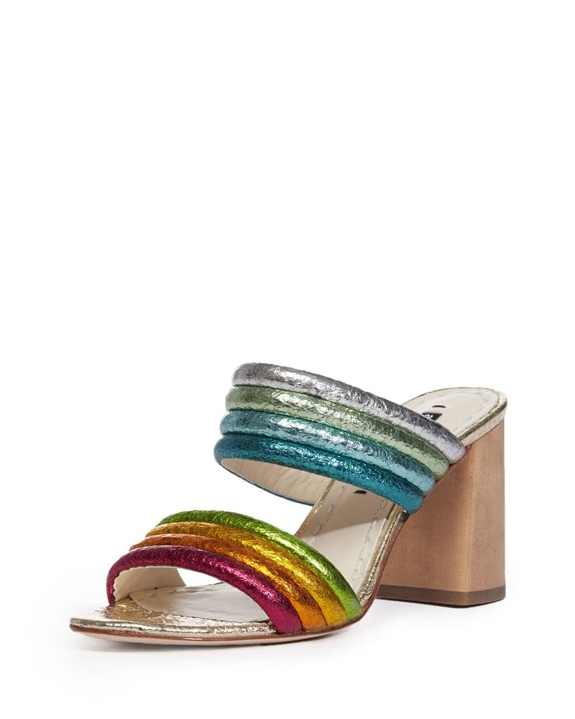 Alice + Olivia Lori Metallic Rainbow Slide Sandal | Blake