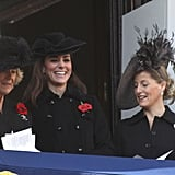 Camilla Parker Bowles, Kate Middleton and Sophie Rhys-Jones enjoyed each others' company.