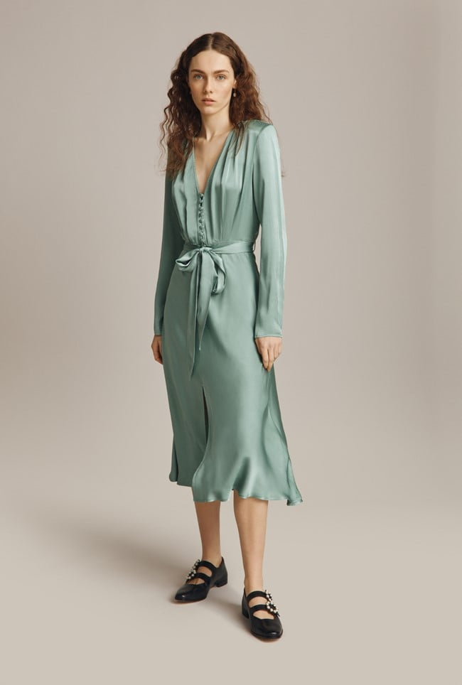 Green Bridesmaid Dress: Ghost Meryl Dress