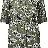 Topshop Floral Print Shirt Dress