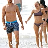 Julianne Hough and Brooks Laich at the Beach September 2017