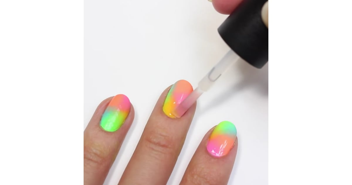 Sponge On Ombre Nail Art Diy Popsugar Beauty