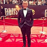 He's always dapper, but Joe Zee upped his game in a slim tuxedo for tonight's show. Source: Instagram user mrjoezee