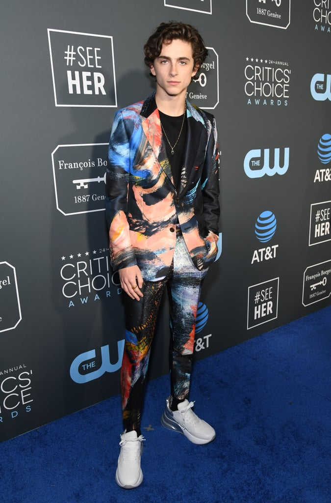 Timothée Chalamet at the 2019 Critics' Choice Awards