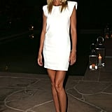 Gwyneth Paltrow hosted the Annual Authors Night private dinner in a strong-shouldered LWD.