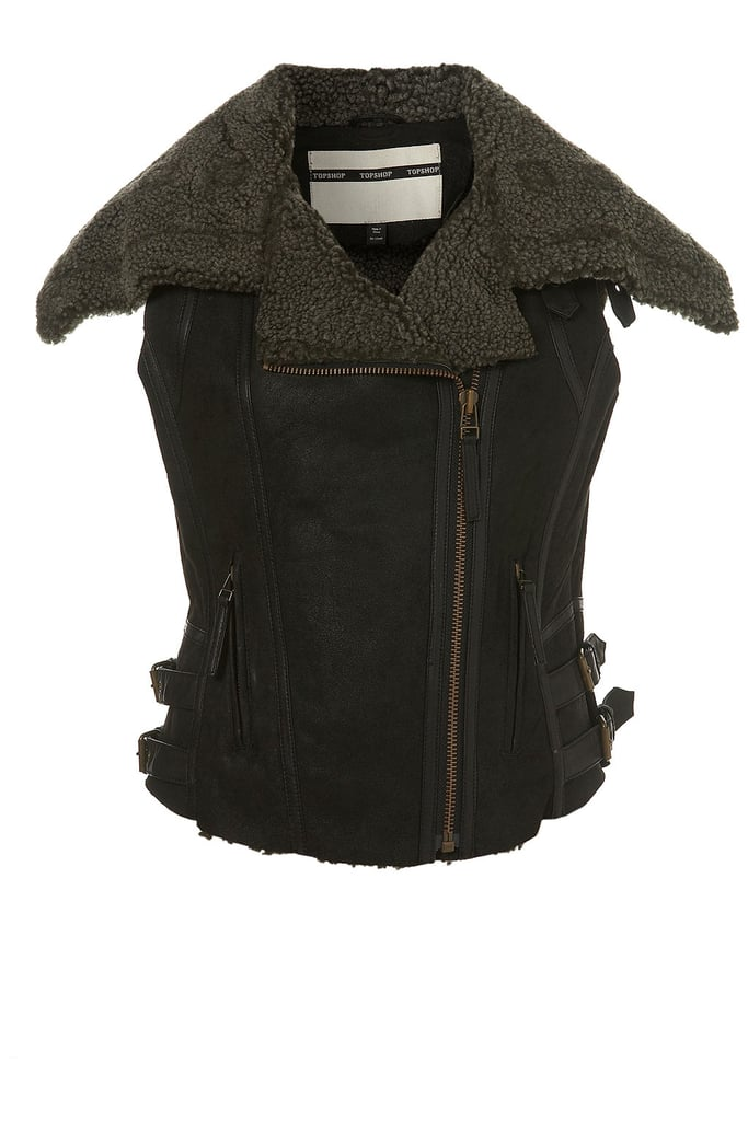 If you want to slowly introduce Autumn pieces to you wardrobe, why not start with a sleeveless jacket (£175).