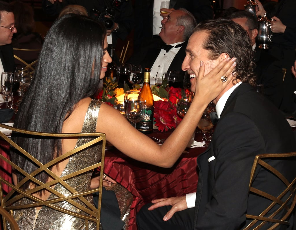 Camila showed Matthew love in the audience at LA's AFI Life Achievement Awards in June 2011.
