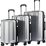Coolife Luggage Expandable Suitcase Set