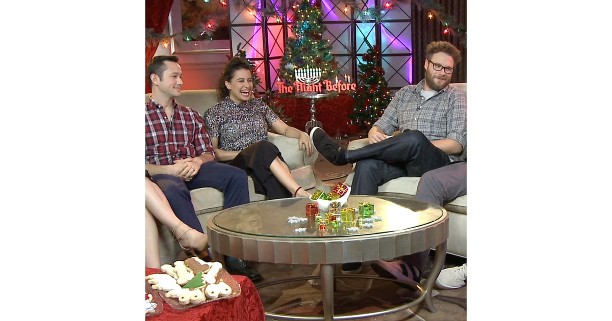 the night before cast interview video popsugar celebrity - The Night Before Christmas Cast
