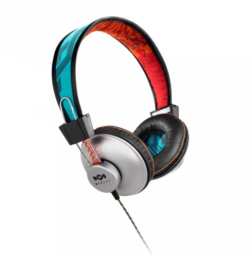 We love these island-inspired headphones for their bright color combo, affordable price point, and comfortable wearability factor.  House of Marley Positive Vibration Headphones ($60)