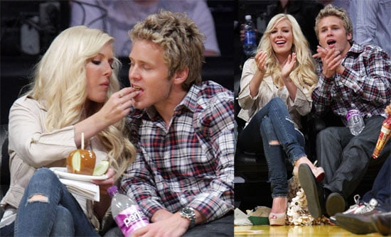 Photos of Heidi Montag, Spencer Pratt, Chris Ivery, Eric Dane at Lakers Game