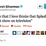 We're going to guess that @SarahKSilverman disagrees with her SO's favorite show.